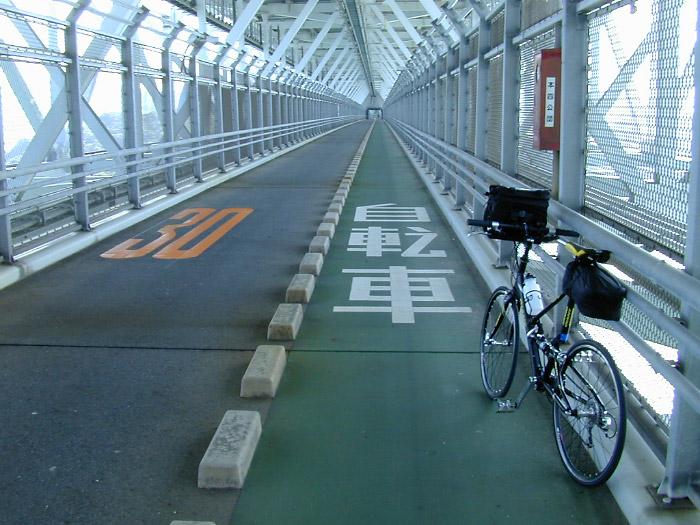 因島大橋自転車歩行者道