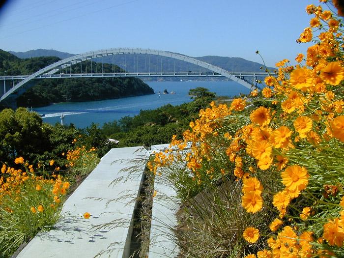花と大三島橋