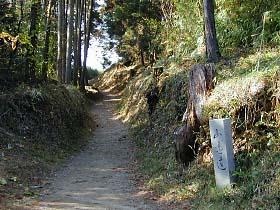 玄賓庵への道