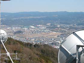 茶臼山より名張市街を望む