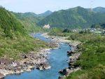 相生町吉野付近の那賀川