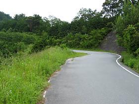 相津峠へ向かうスカイライン