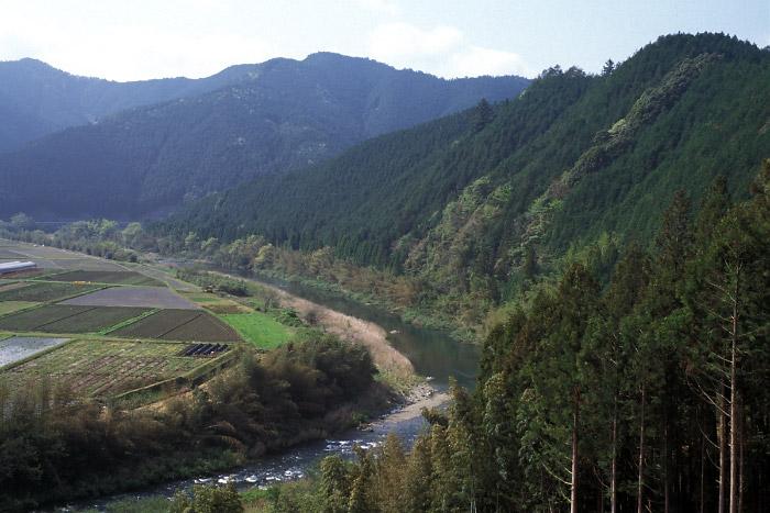 芹田付近からの四万十川