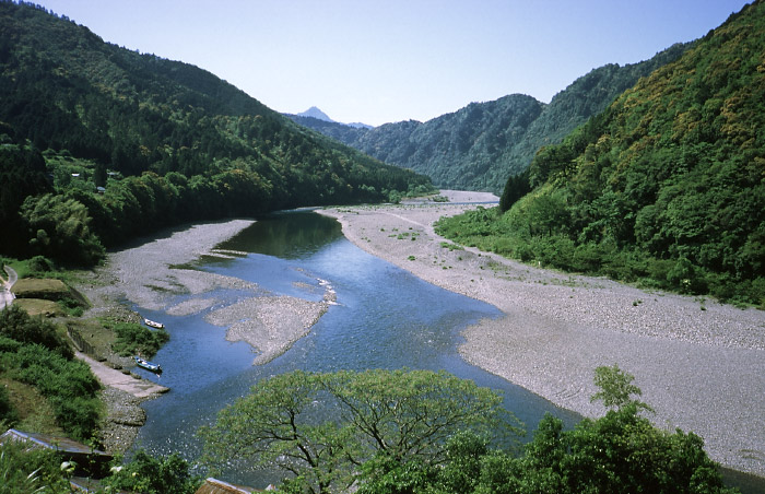 竹筒付近より北山川を見下ろす