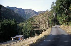 鴻坂峠の下り