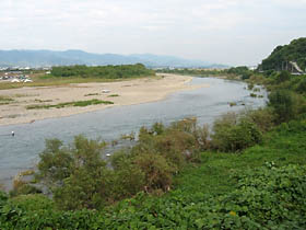 竹房橋付近の紀ノ川