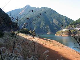 奥香肌湖のススキ草原