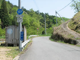 県道平原五條線・百谷付近