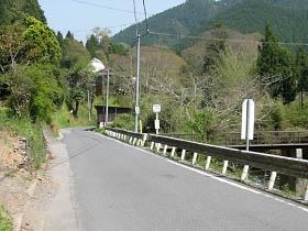 県道赤滝五條線・堂原付近