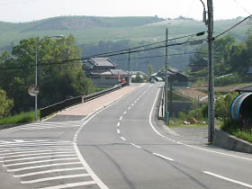 県道五條吉野線・島野付近