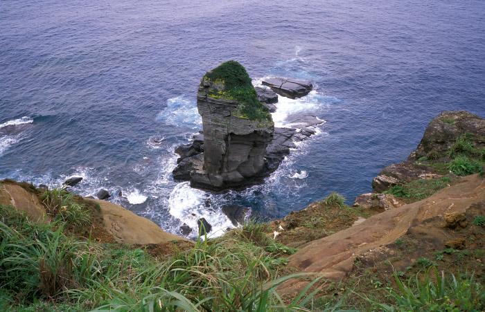 真上から見た立神岩