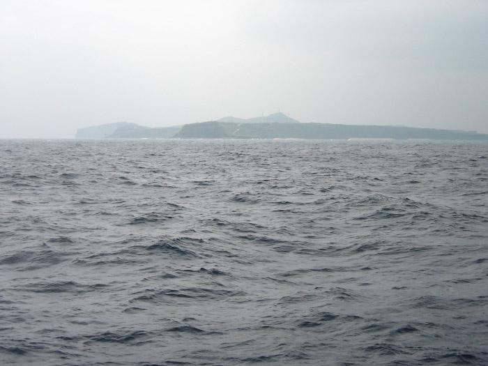 与那国島が見えた